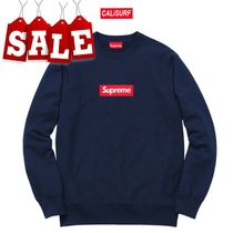 【在庫処分SALE】FW15 Supreme Box Logo Crew Neck/NAVY/M