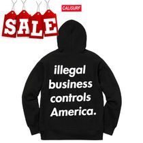 【在庫処分SALE】Supreme ss18 ILLEGAL BUSINESS Hooded/BLACK