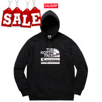【在庫処分SALE】ss18 Supreme/TNF Metallic Logo Hooded/BLACK