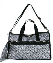 "☆US LeSportsac  ""GREY SIGNATURE"" REBECCA WEEKENDER"