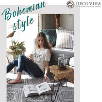 DECO VIEW(デコヴュー)★Bohemian Basic Soft Rug-Gray-140x100