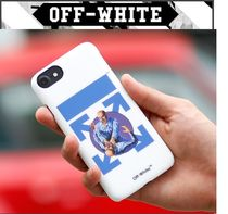 【OFF WHITE】正規品18FW FIGHT IPHONE 8COVER WHITE/追跡送料込