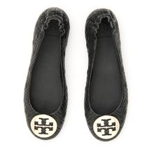 TORY BURCH Quilted Minnie Travel Flats キルティングレザー