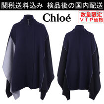 少数入荷 新作SALE★Chloe★color-block wool cape