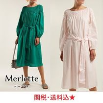 新作★MERLETTE★Bonaire belted smock dress ワンピース