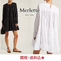 希少★MERLETTE★Soliman tiered cotton mini dress ワンピース
