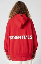 FW18 FOG FEAR OF GOD ESSENTIALS GRAPHIC PULLOVER HOODIE RED
