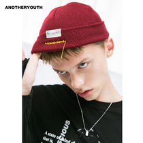 ANOTHERYOUTH(アナザーユース) ニットキャップ・ビーニー ANOTHERYOUTH正規品★18AW★レタリングショートビーニー★UNISEX
