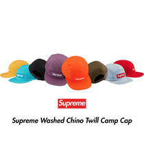 Supreme(シュプリーム) キャップ Supreme Washed Chino Twill Camp Cap 18SS シュプリーム
