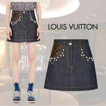 VIP価格【Louis Vuitton】JUPE CLOUTEE EN DENIM BRUT 関税込