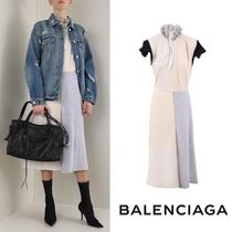 BALENCIAGA Projection dress in patchwork jersey 関税送料込