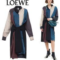 Patchwork Stripe Shirtdress マルチカラー LOEWE(ロエベ)