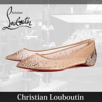 17SS Christian Louboutin Follies Strass フラットパンプス