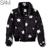 SAM. NEW YORK★スタープリント Freestyle Down Bomber Jacket