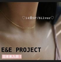 E and E PROJECT(イーアンドイープロジェクト) アクセサリーその他 【E and E Project】14金GF/シルバー〓ダブルネックレス
