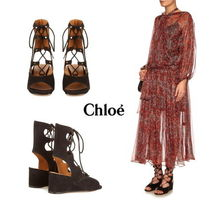 【Chloe】Foster lace-up wedge sandals