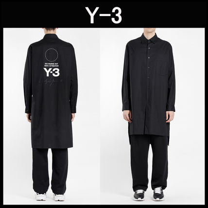 Y-3☆STACKED ロゴ ブラック ロングシャツ