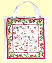 ★The Red & White Kitchen★Tote Bag CA MAP ト-トバッグ(L)