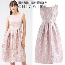 送関込 Chicwish☆Rosy Blossom Jacquard Embossed Floral Dress