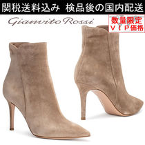 Gianvito Rossi(ジャンヴィト ロッシ) ショートブーツ・ブーティ 少数入荷 新作★GIANVITO ROSS Levy 85 suede pointy booties