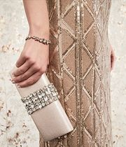 Adrianna Papell(アドリアナパぺル) ウェディングアクセサリー KEREN VICTORIA ROLL CLUTCH WITH JEWELS