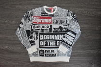 【AW18】Supreme (シュプリーム) NEWSPRINT SWEATER