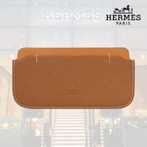 【18AW】HERMES/エルメス Pochette E-Cover gold/toffee