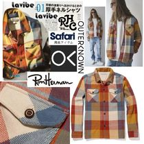 Safari10月号掲載RHC取扱Outerknown★BlanketシャツJKT -HMPlaid