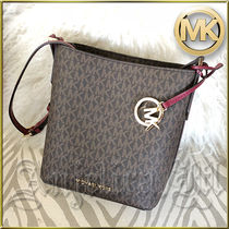 在庫有即発★MICHAEL KORS KIMBERLY CROSSBODY Brown 35F8GKFM1V