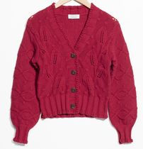 """""""& Other Stories"""" Chunky Knit Cardigan Red"""