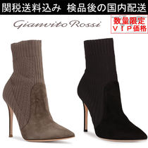 Gianvito Rossi(ジャンヴィト ロッシ) ショートブーツ・ブーティ 少数入荷★GIANVITO ROSS★ Katie 105 Suede Sock Booties