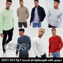 ASOS muscle fit lightweight cable jumper◆ケーブルニット