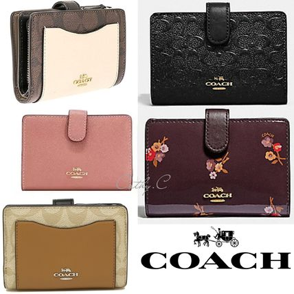 Coach*SALE*財布*二つ折り財布*レザーMEDIUM CORNER ZIP WALLET
