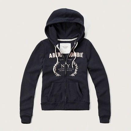Abercrombie & Fitch パーカー・フーディ  APPLIQUE LOGO GRAPHIC HOODIE