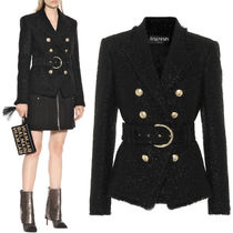 18-19AW BAL328 GLITTER TWEED BOUBLE BREASTED JACKET