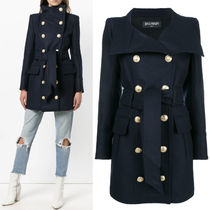 18-19AW BAL334 WOOL CASHMERE DOUBLE BREASTED COAT