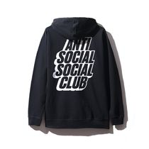 Anti Social Social Club Blocked Logo Black Hoodie 黒 ASSC