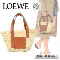 LOEWE leather and Basket tote bag M size