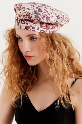 【関税込】Urban Outfitters:  Printed Canvas Beret ベレー帽