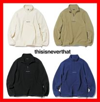 人気★【thisisneverthat】★Dsn Fleece Half Zipup★4色★