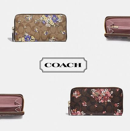 新作★COACH★ACCORDION ZIP WALLET IN SIGNATURE 花柄 flower