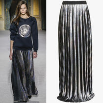18-19AW BAL346 LOOK88 HOLOGRAPHIC PLEATED LONG SKIRT