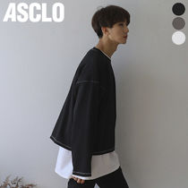 ASCLO(エジュクロ) Tシャツ・カットソー ★ASCLO★ Stitch Cropped T Shirt (3color)