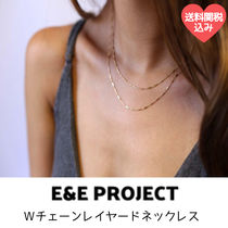 E&E PROJECT★Wチェーンレイヤードネックレス14KGF or SS 送関込