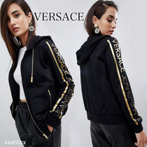◆NEW◆ VERSACE JEANS メタリックロゴ パーカー