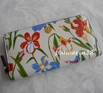 sale!TORY BURCH-printed floral zip continental wallet