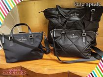 kate spadeh★watson lane quilted lucie crossbodyナイロン黒
