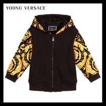YOUNG VERSACE★Black & Gold ジップアップトップ★6-36M 関税込
