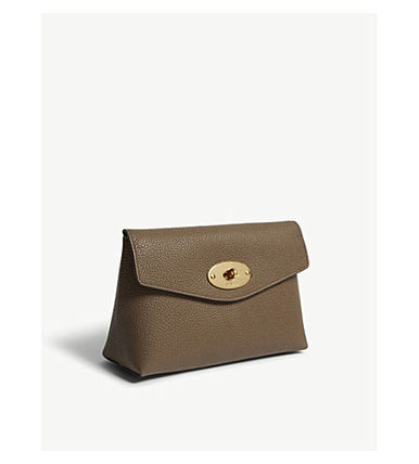 Mulberry メイクポーチ 【関税・送料ゼロ】MULBERRY スモールレザーポーチ