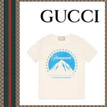 GUCCI I8-19AW T-shirt oversize con logo Paramount Tシャツ